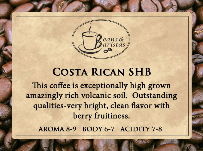 This coffee is exceptionally high grown amazingly rich volcanic soil.  Outstanding qualities-very bright, clean flavor with berry fruitiness.