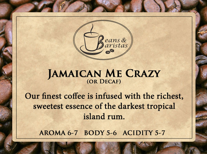 Our finest coffee is infused with the richest, sweetest essence of the darkest tropical island rum