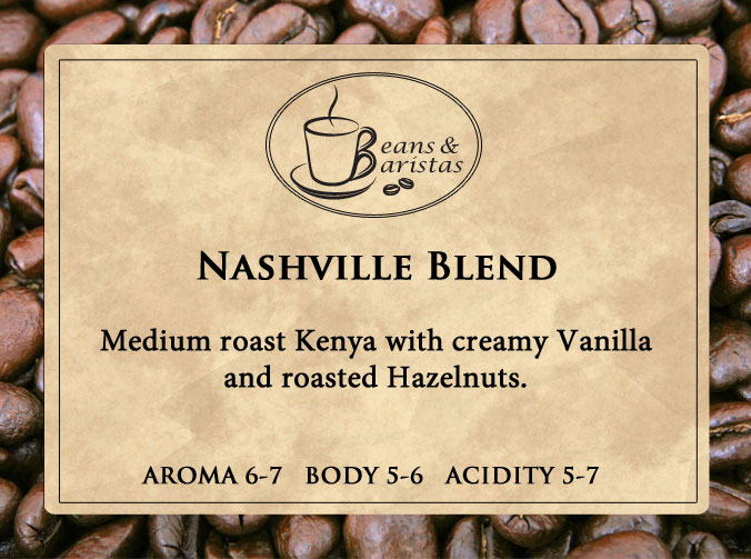 Medium roast Kenya with creamy Vanilla and roasted Hazelnuts.