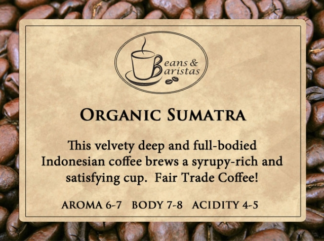 This velvety deep and full-bodied Indonesian coffee brews a syrupy-rich and satisfying cup.  Fair Trade Coffee!