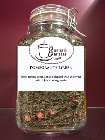 Fresh tasting green Sencha blended with the sweet taste of juicy pomegranate.